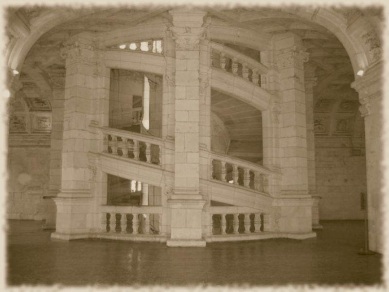L'escalier à vis à double hélice - Chambord copie
