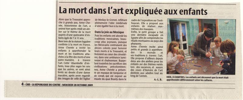 Article République du Centre Oct 2009