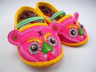 Chaussures d'enfant à tête de lion  Chine XXe siècle