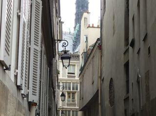 L'ancien quartier des chanoines sur l'île de la Cité à Paris