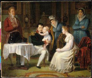 Napoléon et son fils - 1812 - A. Menjaud - Fontainebleau