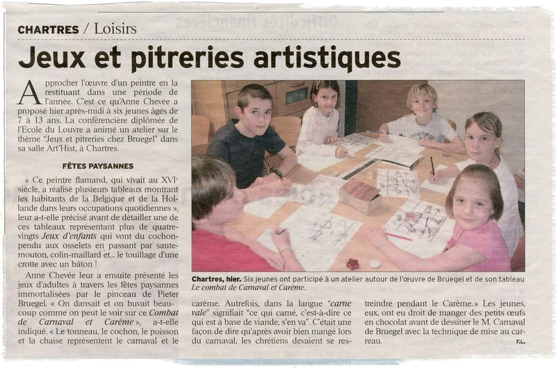 Atelier enfants ART'Hist avril 2011