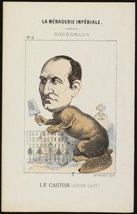 Portrait-charge d'Haussmann paru dans La Ménagerie impériale en 1870