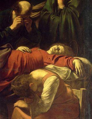 La mort de la Vierge - Louvre - Le Caravage - 1601-1603 - détail