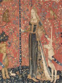 Détail - Tenture de la Dame à la Licorne. Musée national du Moyen-Age. Paris
