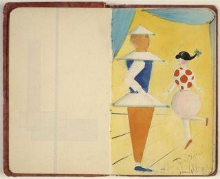 Schlemmer Oskar Carnet de Nina Kandinsky. Autour du ballet triadique 1923