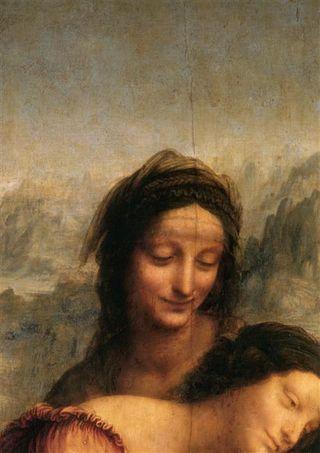 La Vierge, l'Enfant Jésus et Sainte Anne (détail) - Léonard de Vinci - Musée du Louvre
