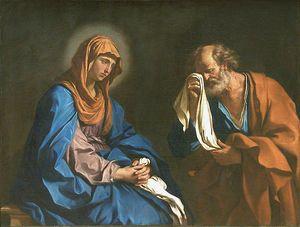 Musée du Louvre - Le Guerchin - Saint Pierre pleurant devant la Vierge, dit aussi