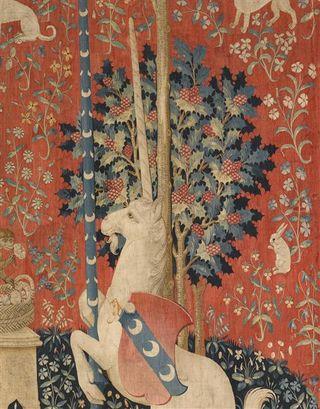 Tenture de la Dame à la Licorne. Détail.  Musée de Cluny - Paris. 15es.