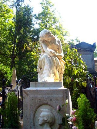 Tombe de Chopin au Père-Lachaise