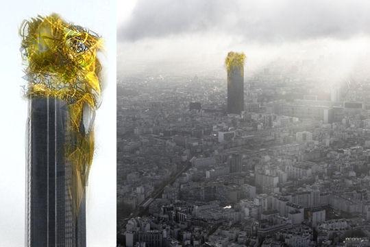 Projet de chapeau pour la Tour Montparnasse