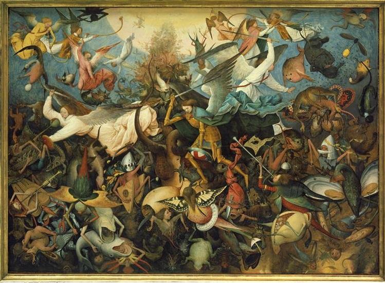 400 La Chute des anges rebelles 1562 P sur bois B le Vx Bruxelles