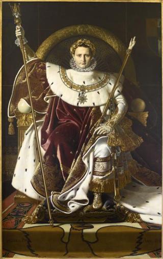 215 Sa majesté l'empereur des Français sur son trône - J.-D. Ingres - 1806 (C) Paris - Musée de l'Armée, Dist. RMN-Grand Palais  Emilie Cambier - Copie