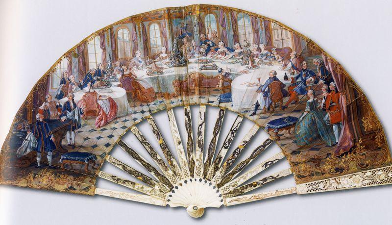 350 déjeuner famille royale 1755 feuille double peau
