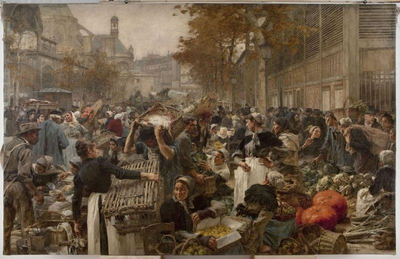 Léon Lhermitte - Les Halles - 1895 - Petit-Palais - Paris