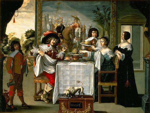 Peinture d'après Abraham Bosse Le goût