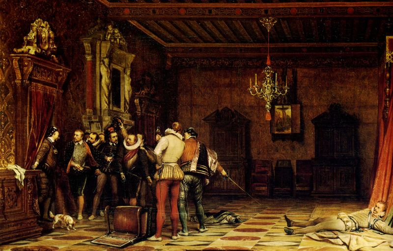 Paul Delaroche - Assassinat du duc de Guise