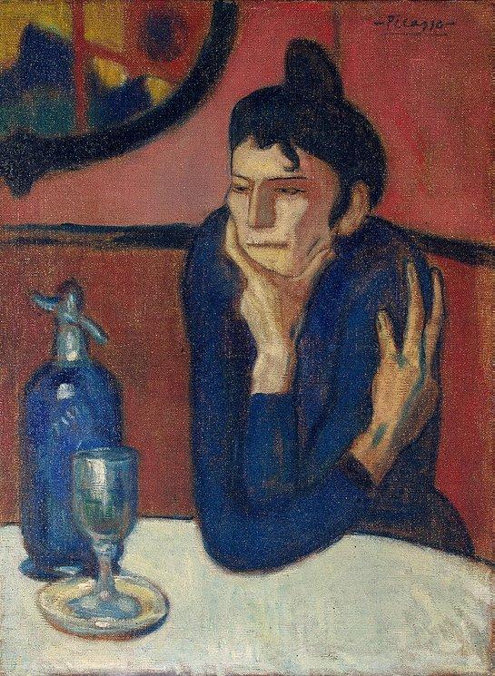 La buveuse d'absinthe - Picasso - Ermitage - St-Petersbourg