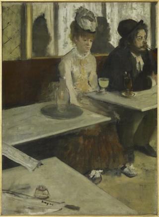 Dans un café, dit aussi l'absinthe. Degas. Musée d'Orsay
