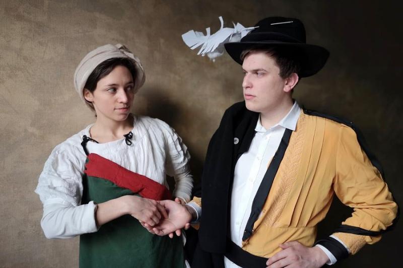 Juliette et Alexandre selon Caravage