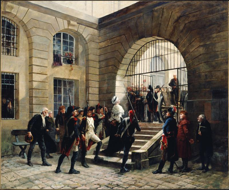 Georges Cain Marie Antoinette sortant de la Conciergerie Musées de la Ville de Paris