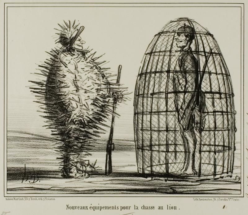 Daumier Chasse au lion