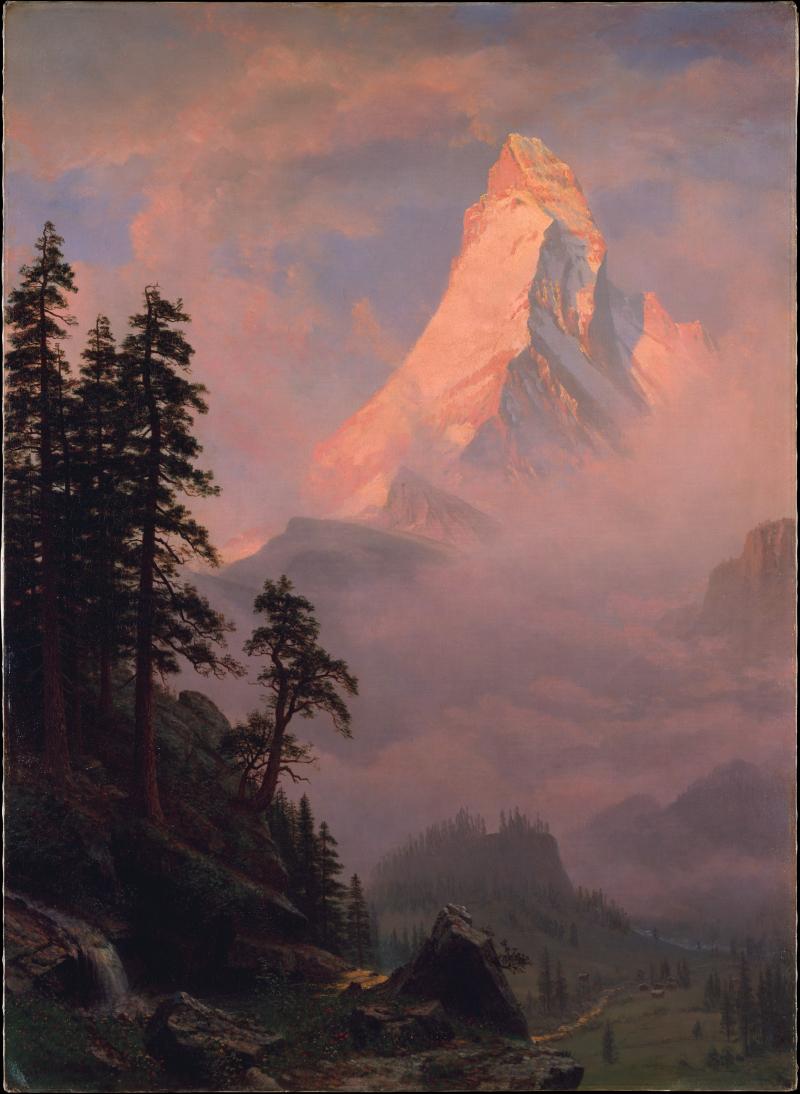 MET M lever soleil cervin Albert Bierstadt